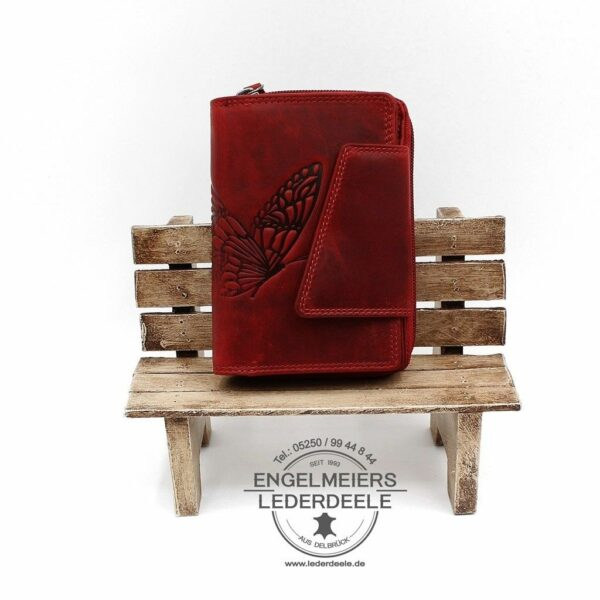 Damenbörse Schmetterling Jockey Club rot Produktansicht