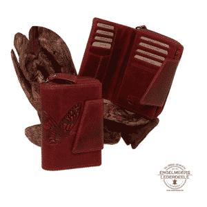 Damenbörse Schmetterling Jockey Club rot Schaltfläche