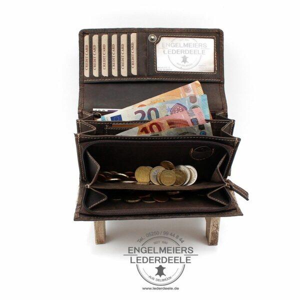 Portemonnaie Liane XL Jockey Club braun Produktansicht