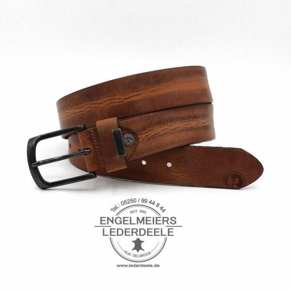 Herrengürtel Robin Green Belts cognac Produktansicht