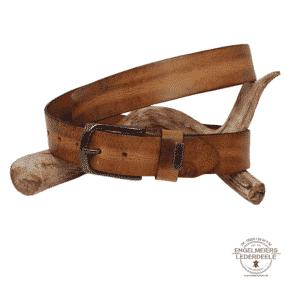 Herrengürtel Robin Green Belts cognac Schaltfläche