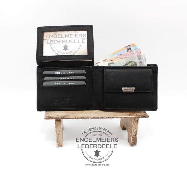 Herrenbörse Massala Quer Jockey Club schwarz Produktansicht