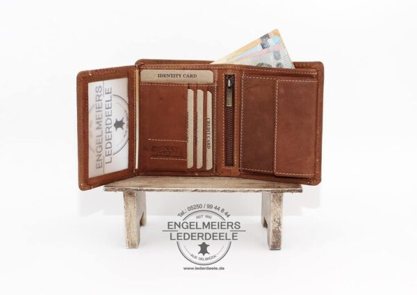 Toro Portemonnaie Hoch Jockey Club cognac Produktansicht