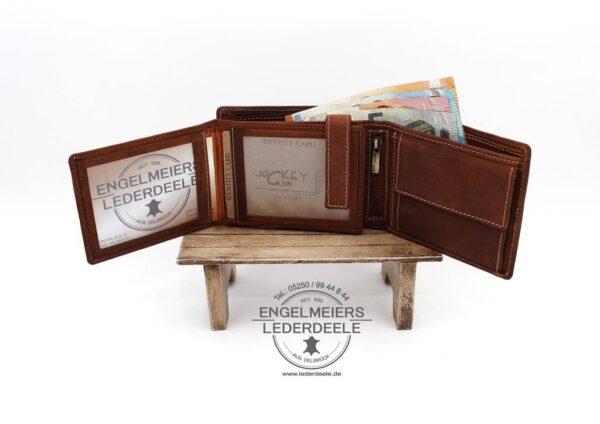 Toro Riegelbörse Quer Jockey Club cognac Produktansicht