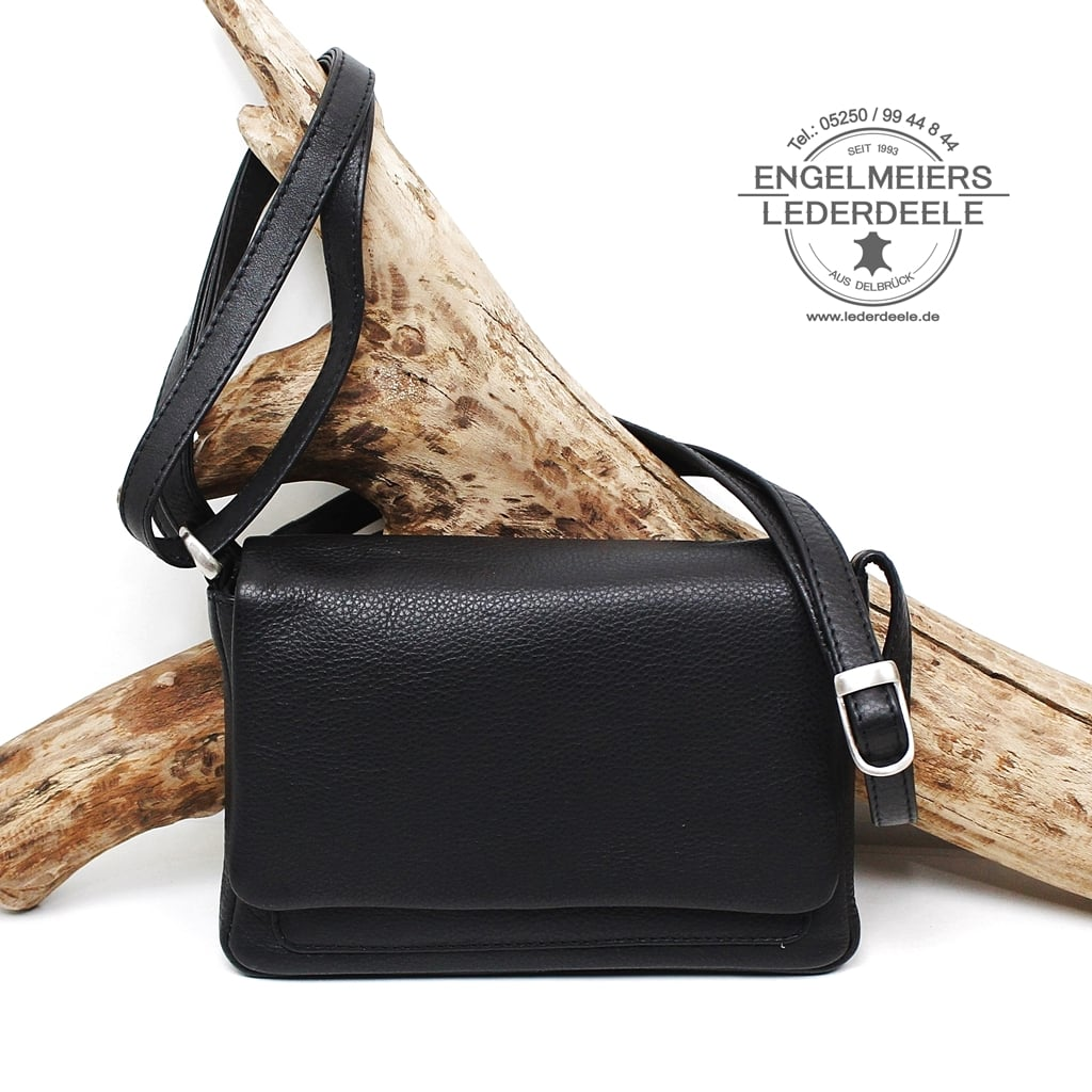 Schaltfläche Estelle Handtasche für Damen schwarz