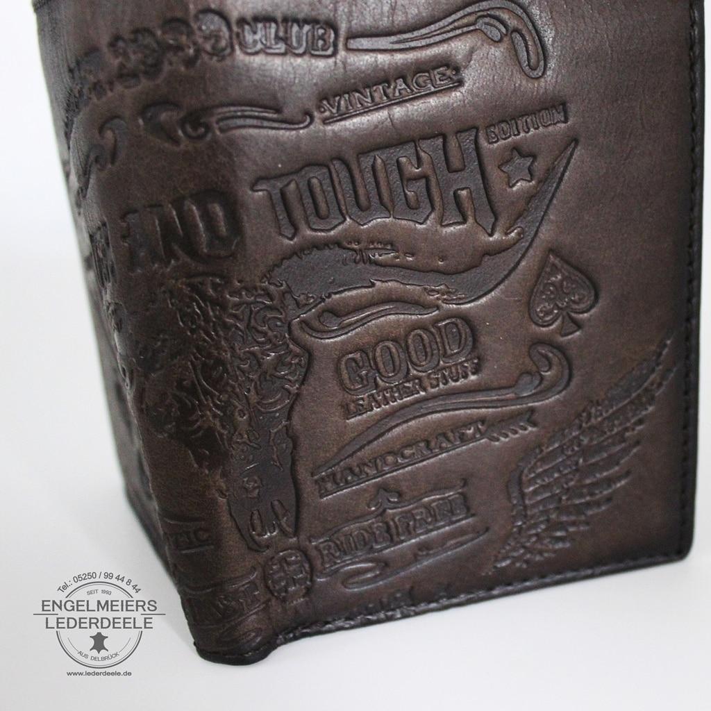 Rough and Touch Portemonnaie Jockey Club Detailaufnahme