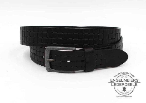 Herrengürtel Vitus Green Belts schwarz Produktansicht