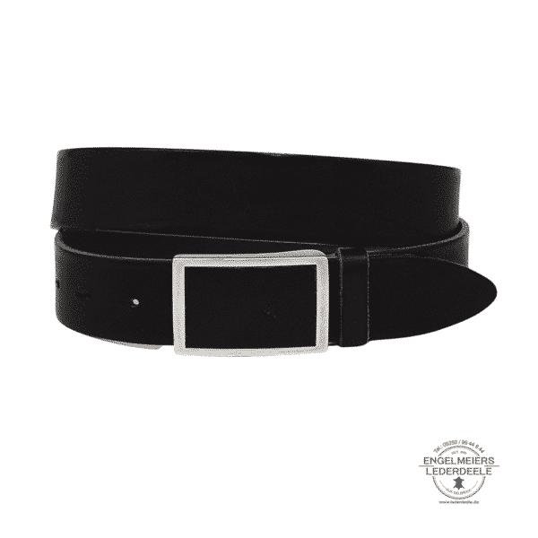 Herrengürtel Welton Green Belts schwarz Produktansicht