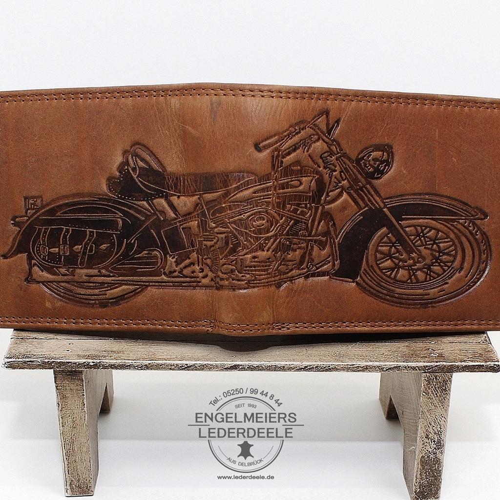 Motorrad Riegelbörse Detailaufnahme