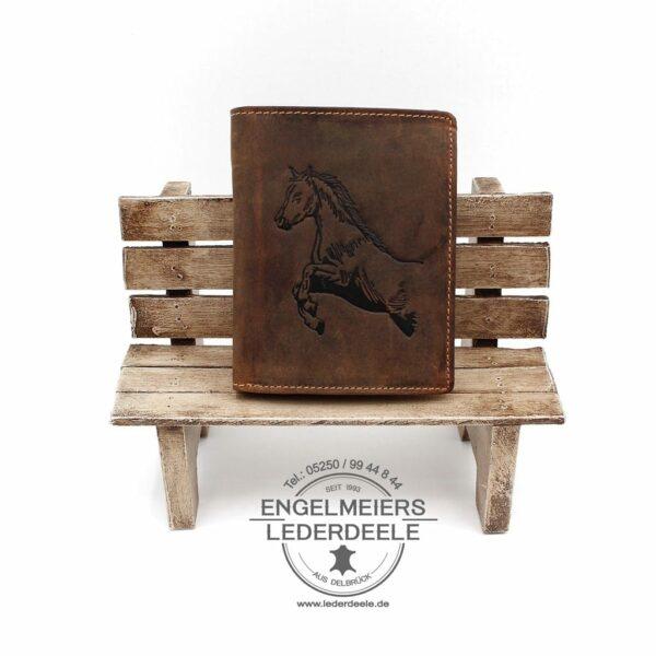 Pferd Hoch Vintage Hunting braun GreenBurry Schaltfläche
