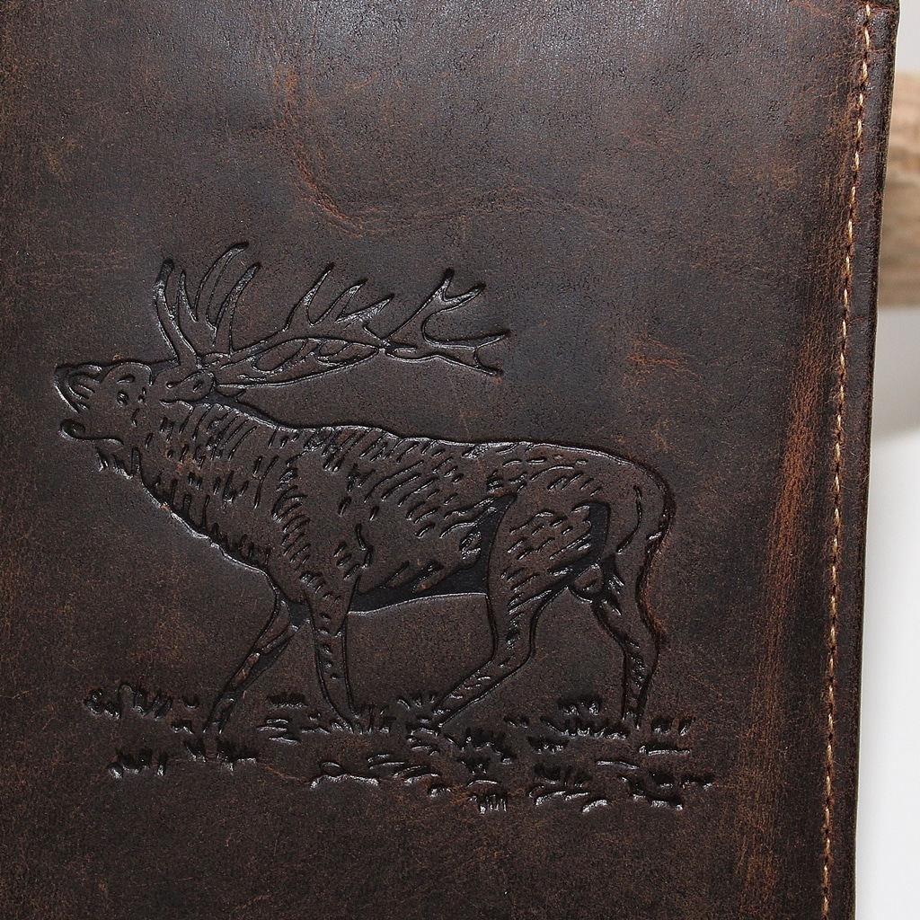 Hirsch Hoch Vintage Hunting GreenBurry Detailaufnahme