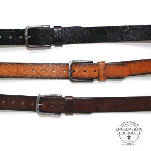 Herrengürtel Dave Green Belts braun, schwarz und cognac Produktansicht