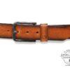 Herrengürtel Dave Green Belts cognac Produktansicht