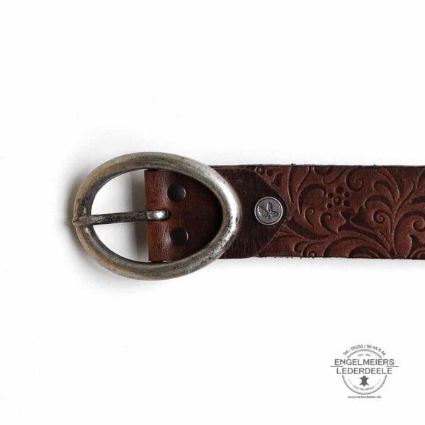 Damengürtel Carmen Green Belts braun Produktansicht
