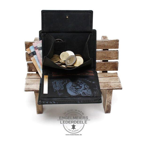 Herrenbörse Hoch da Vinci Jockey Club schwarz Produktansicht