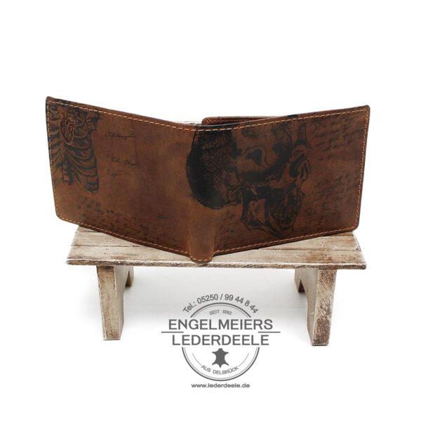 Herrenbörse Quer da Vinci Jockey Club cognac Produktansicht