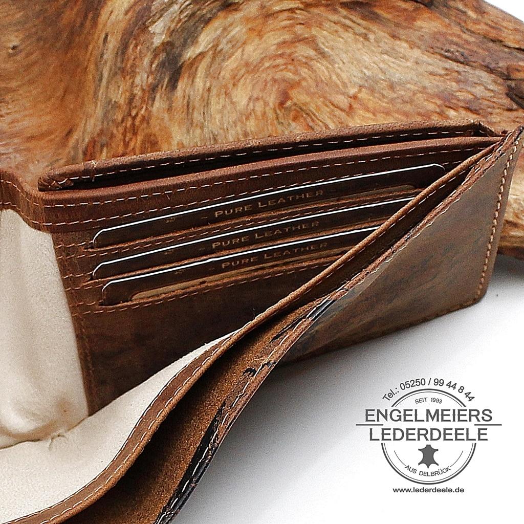 Herrenbörse Quer da Vinci Jockey Club Detailaufnahme