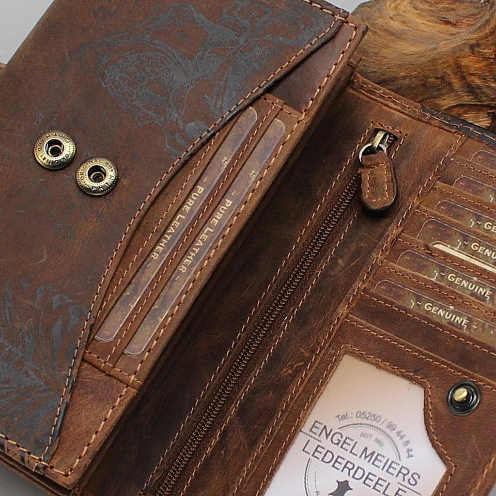 Geldbörse da Vinci Jockey Club Detailaufnahme
