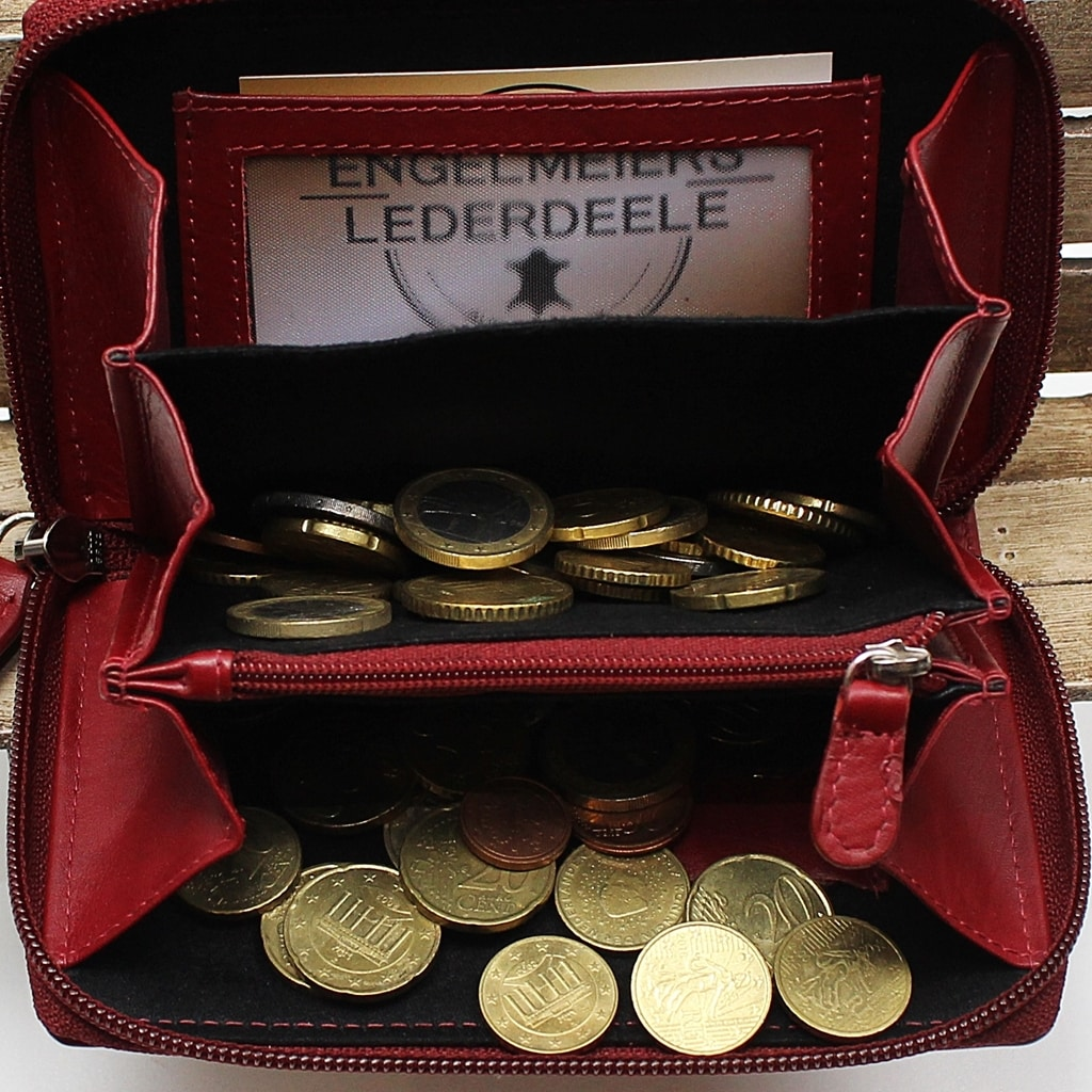 elegante Geldbörse Damen Jockey Club Detailaufnahme