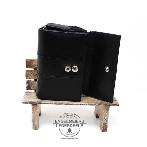elegante Geldbörse Damen Jockey Club schwarz Produktansicht