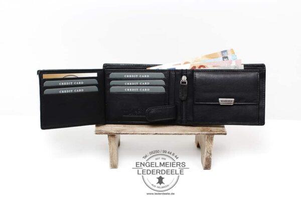 Riegelbörse Massala Jockey Club schwarz Produktansicht