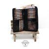 Damen Portemonnaie Ziernieten groß Jockey Club schwarz Produktansicht
