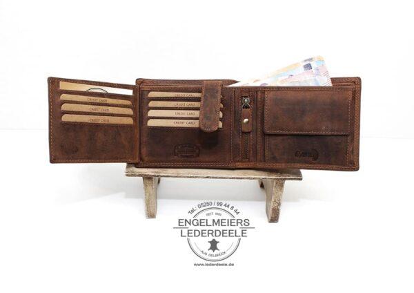 Traktor Portemonnaie John McLean cognac Produktansicht