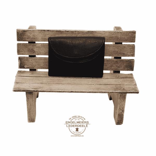 kleine Geldbörse Jockey Club schwarz Produktansicht