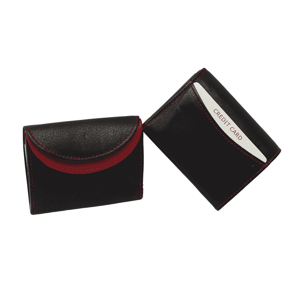 kleine Geldbörse Jockey Club schwarz/rot