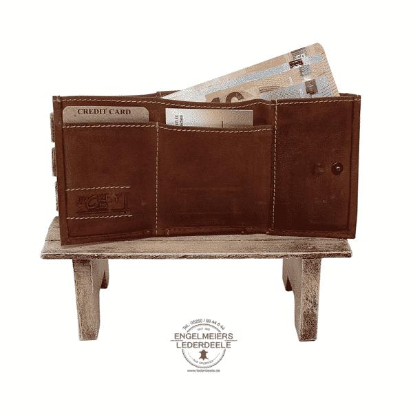 kleine Wickelbörse Jockey Club cognac Produktansicht