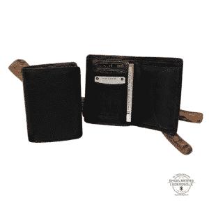 Basic Portemonnaie RFID Hochformat Jockey Club schwarz Schaltfläche