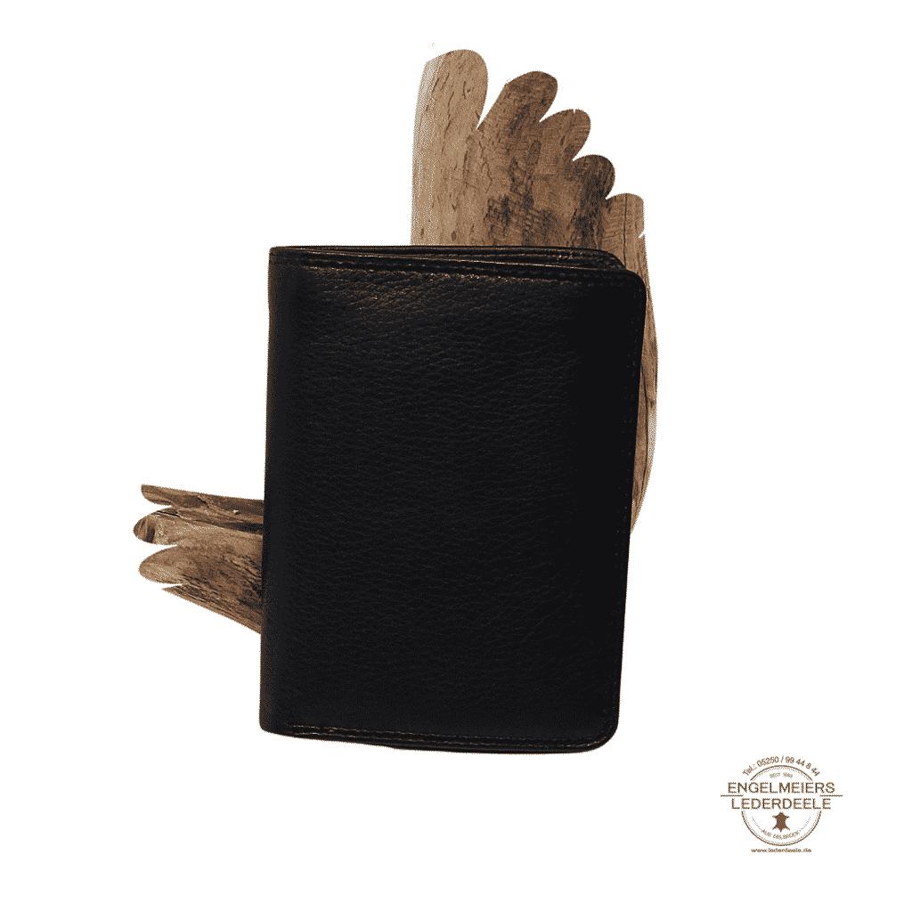 Basic Portemonnaie RFID Hochformat Jockey Club schwarz Produktansicht