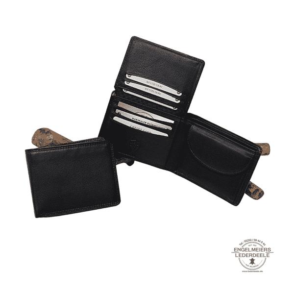 Basic Portemonnaie RFID Querformat Jockey Club schwarz Schaltfläche