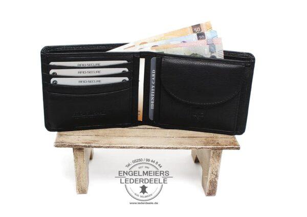 Basis Portemonnaie RFID Jockey Club schwarz Produktansicht