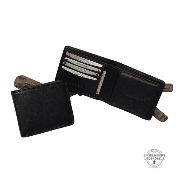 Basis Portemonnaie RFID Jockey Club schwarz Schaltfläche