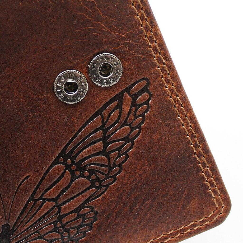 Damenbörse Schmetterling midi Jockey Club Detailaufnahme