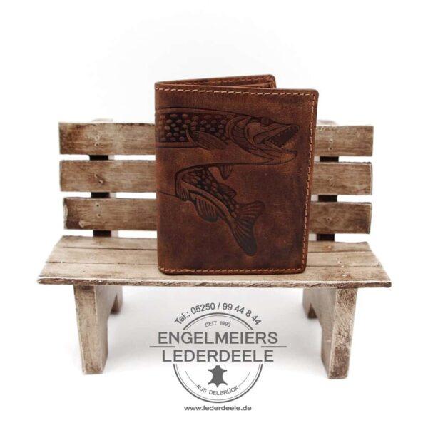 Portemonnaie Hecht midi Jockey Club cognac Produktansicht