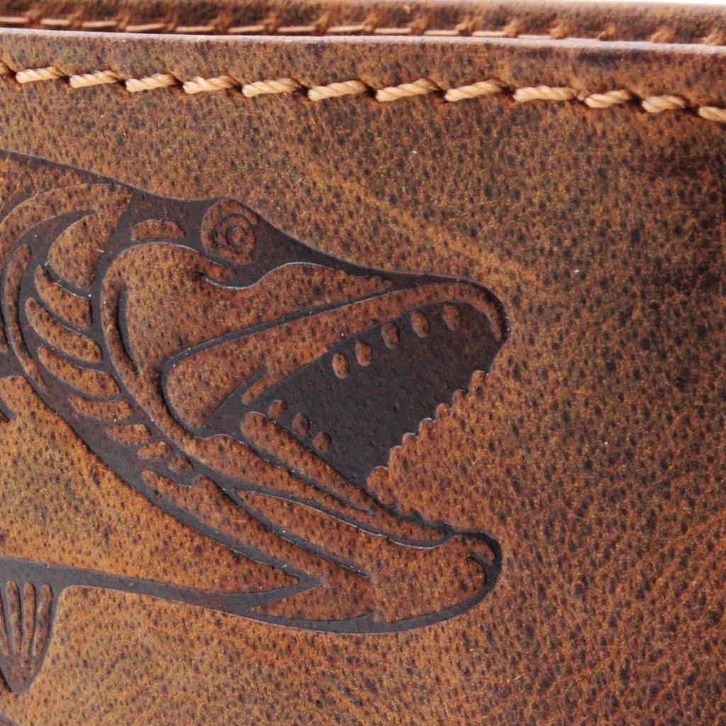 Portemonnaie Hecht midi Jockey Club cognac Detailaufnahme