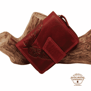 Damenbörse Schmetterling midi Jockey Club rot Schaltfläche