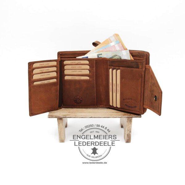 Pferde Portemonnaie Jockey Club cognac Produktansicht