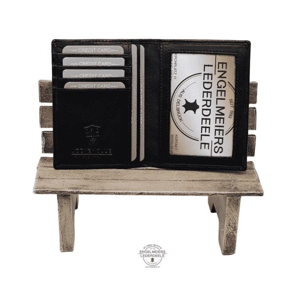 Kartenetui Hochformat Jockey Club schwarz Produktansicht