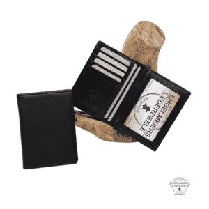 Kartenetui Hochformat Jockey Club schwarz Schaltfläche