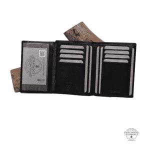 Kreditkartentasche RFID Jockey Club schwarz Schaltfläche