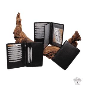 Ausweisetui Brieftasche Jockey Club schwarz Gruppenansicht Schaltfläche