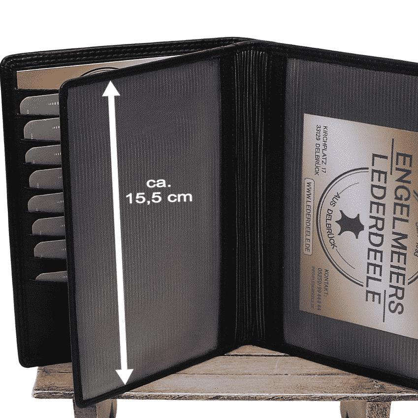 Ausweisetui Brieftasche Jockey Club schwarz Detailaufnahme