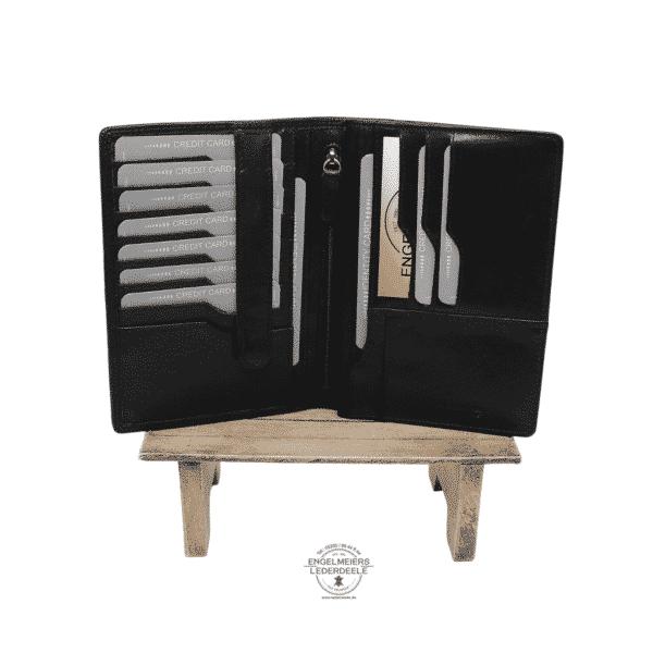 Brieftasche Klassik Jockey Club schwarz Schaltfläche