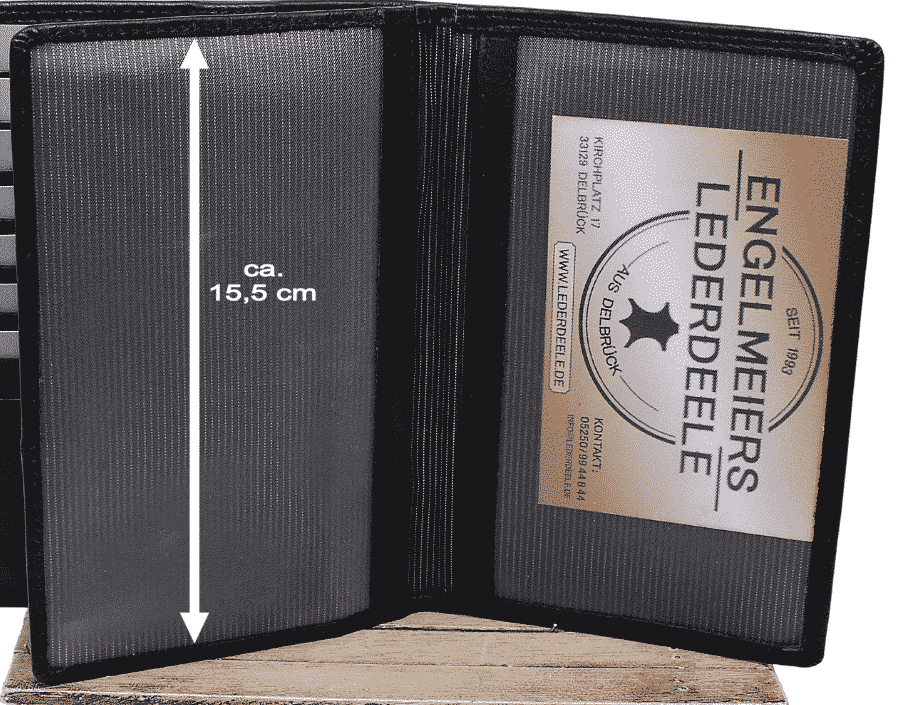 Brieftasche Klassik Jockey Club schwarz Detailaufnahme
