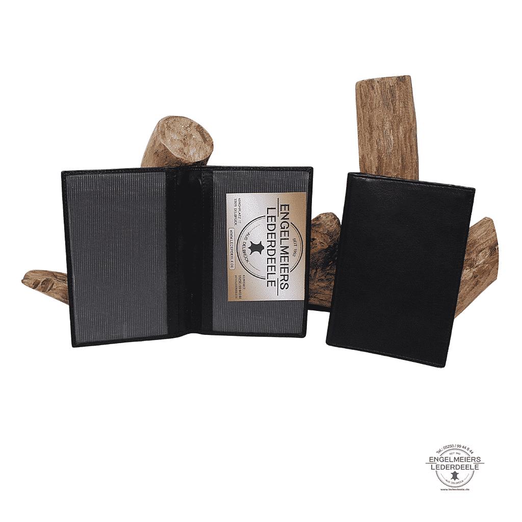 Brieftasche Basic Jockey Club schwarz Gesamtansicht Schaltfläche