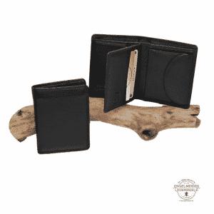 Basic Portemonnaie RFID midi Hochformat Jockey Club schwarz Schaltfläche