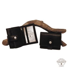 Portemonnaie Gürtelschlaufe mini Jockey Club schwarz Schaltfläche